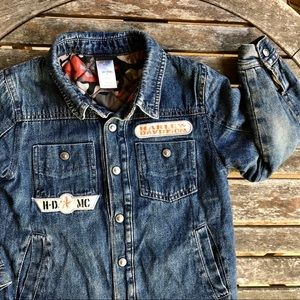 Harley Davidson Child's Quilted Denim Jacket   *J1